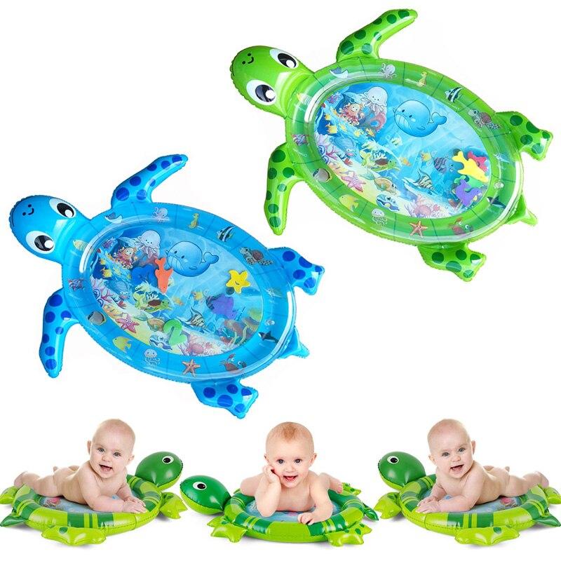 Dropshipping novo design bebê esteira do jogo de água inflável infantil barriga tempo playmat criança para o bebê diversão atividade crianças jogar centro