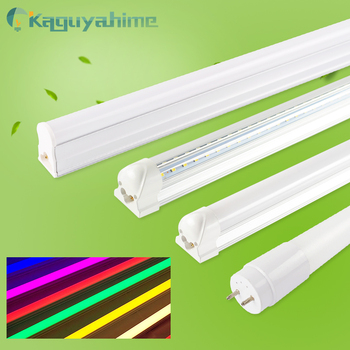 =(K)= kolor RGB T5 T8 świetlówka LED 220V 30CM 60CM RGB świetlówka LED T5 świetlówka ing 6W 10W 20W zintegrowane pcv z tworzywa sztucznego tanie i dobre opinie Kaguyahime CN (pochodzenie) ROHS Zimny biały (5500-7000 k) 2835 SALON 500-999 lumenów 50000 0 6 m Żarówki LED Rury Epistar