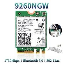להקה כפולה אלחוטי עבור אינטל 9260 WiFi כרטיס 9260NGW 9260AC NGFF M.2 1.73Gbps 802.11ac Bluetooth 5.0 Wlan רשת מתאם