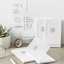 40 folhas criativo agenda diária bloco de memorando para fazer nota de lista com plástico capa dura planejador escritório material escolar papelaria