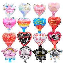 10 pçs 10 polegada espanhol dia da mãe feliz dia balões de folha te amo mama bolas decorações da festa de aniversário crianças chuveiro do bebê globos ar
