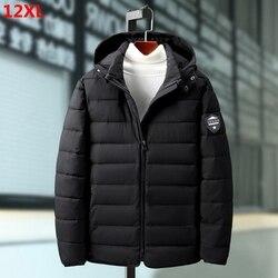 Мужское хлопковое пальто большого размера, 160 кг, свободная версия размера плюс, очень большая куртка большого размера, зимнее хлопковое пал...