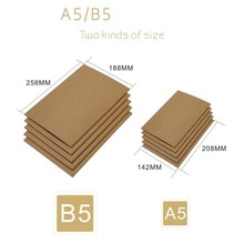 New A5 B5 Kraft Paper Notebook Line/Blank Pages Notepad Book Vintage Soft Copybook Daily Memos Kraft Cover Journal Notebook