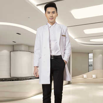 High End Korean Version Plastic Surgery Hospital Dental Stomatology Hospital Male Doctor White Gown Medium Long Suit Coat Doctor - DISCOUNT ITEM  10 OFF All Category