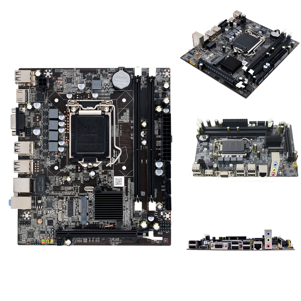 H55 réparation Stable pratique remplacement de l'interface CPU Double carte mère USB système LGA1156 Double canal ordinateur de bureau