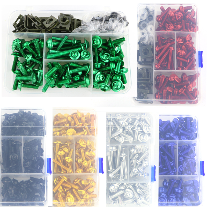 CNC Aluminum Fairing Bolt Screws Kit For KAWASAKI Ninja ZX-6R Ninja ZX10R Ninja ZX-14R ZZR1400 ZZR 600