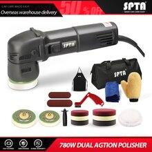 SPTA 3 인치 랜덤 궤도 듀얼 액션 폴리 셔 110V/220V 미니 전기 폴리 셔 자동차 뷰티 폴리싱 머신 및 액세서리