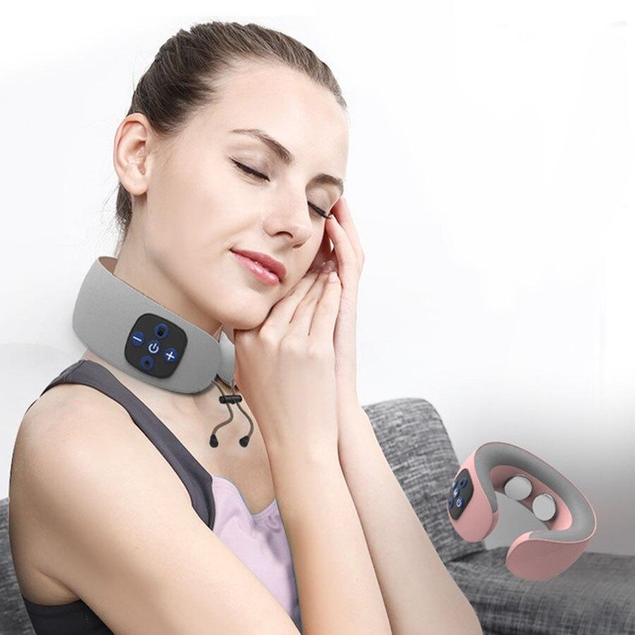 Masseur électrique de cou d'impulsion Instrument de thérapie de vertèbre cervicale Acupuncture thérapie magnétique oreiller de cou masseur soins de santé - 5
