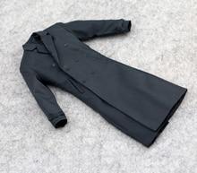 1/6 Men's Long Trench Coat Windbreaker Jacket   Models for 12