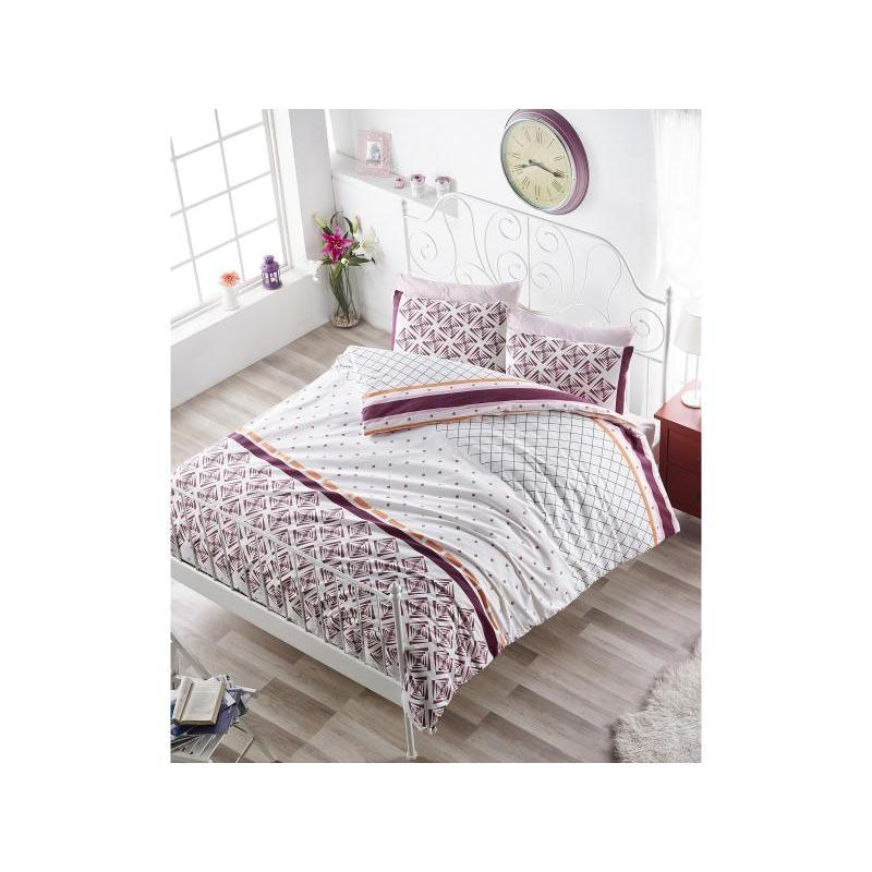 Bedding Set double-euro KARNA, RANFORCE, HERA, Bordeaux ranforce bedroom set cotton box ranforce bedroom set