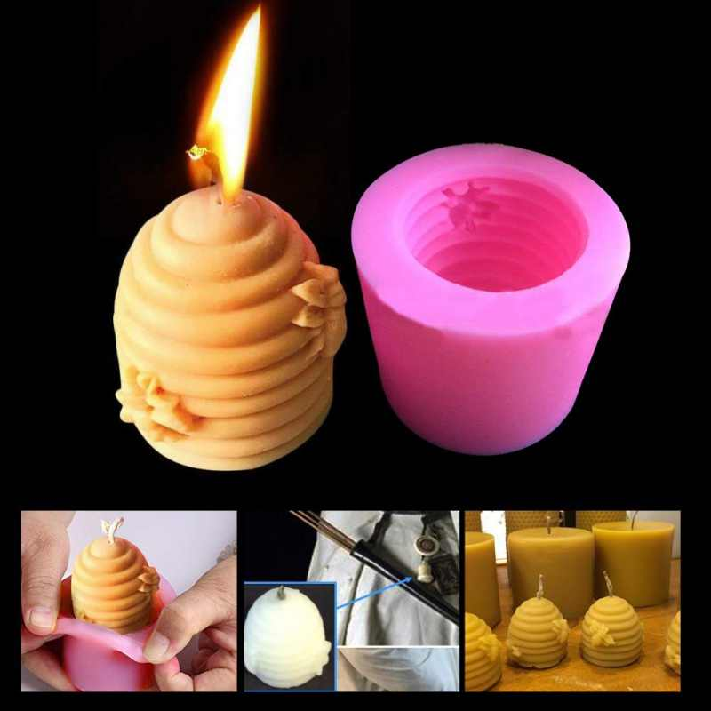 DIY Flower Silicone Chocolate Cake Soap Moulds Aromatherapy Wax Candle Molds