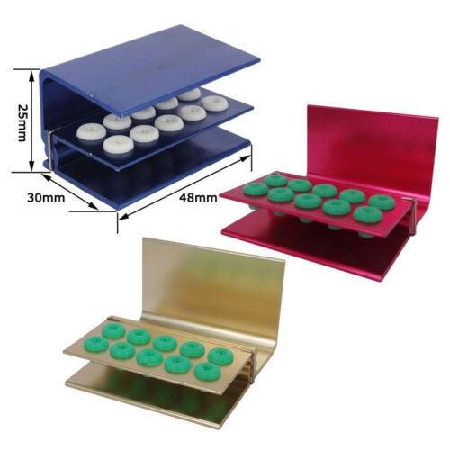 3pcs FG High Speed Burs Autoclavable Disinfection Holder Block Sterilizer