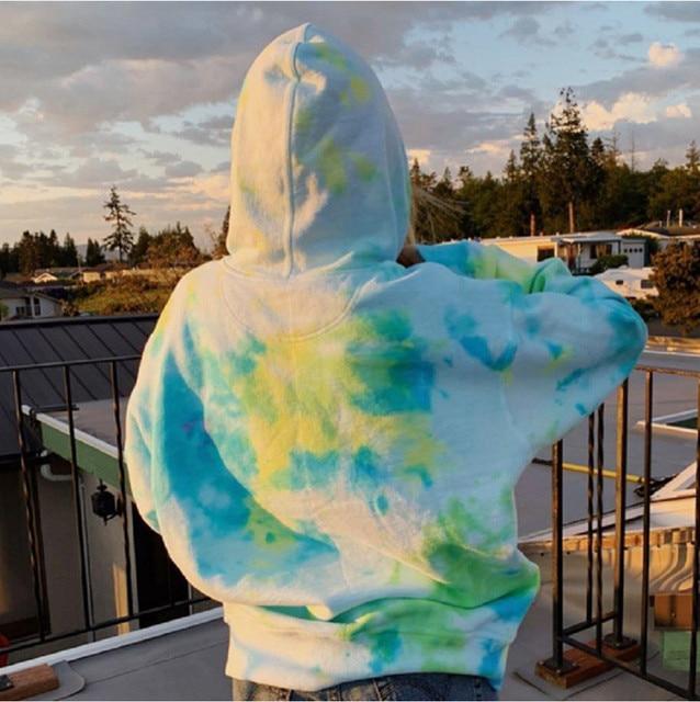 Rainbow Hoodies Women Sweatshirt Oversize Tie Dye Hoodie Streetwear Pullover Spring Autumn Casual Women Sweatshirts Hoddies Tops 6
