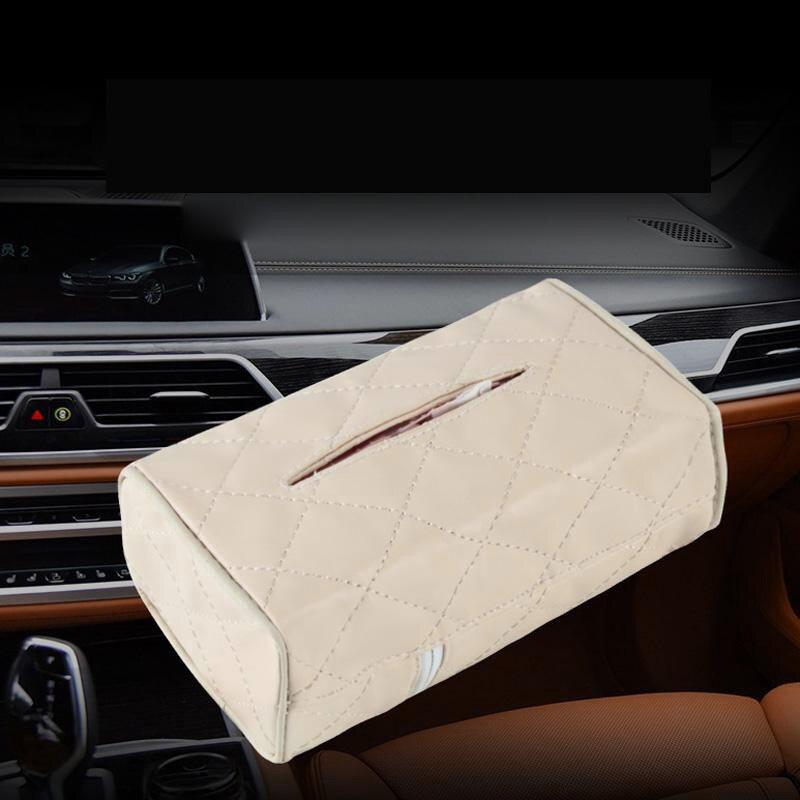 Auto Sitz Zurück Leder Tissue Box Manuelle Nähen Papier Serviette Halter Lagerung mehr langlebig