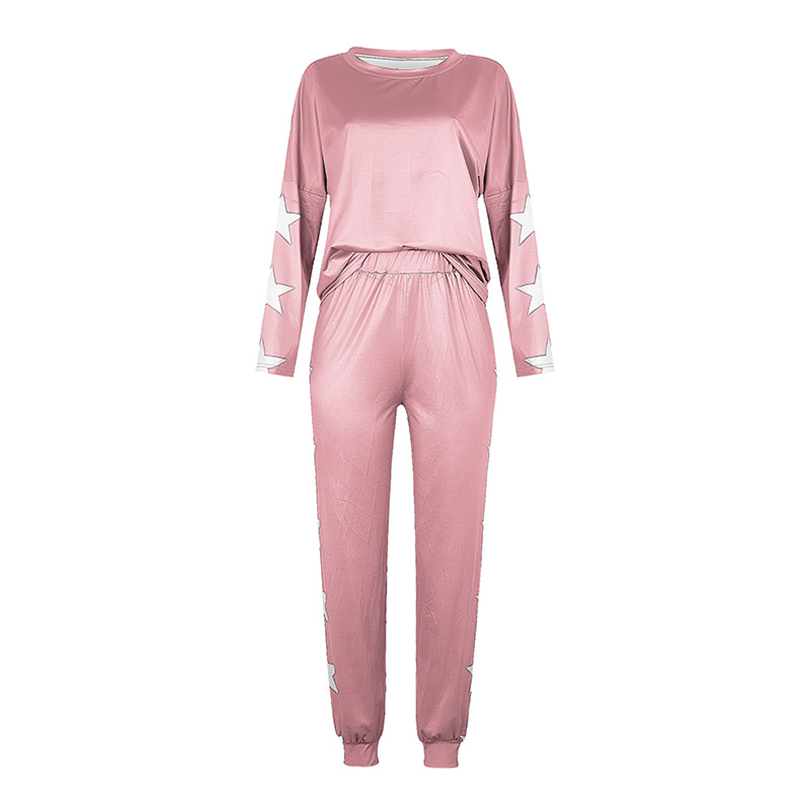 Star Design Sweater and Jogger Pants Set
