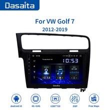 """Dasaita Autoradio, écran tactile IPS 10.0 """", avec Navigation GPS, HDMI, pour VW Golf 7 (2013, 2014, 2015, 2016, 2017), Android 10.2, 1 Din"""