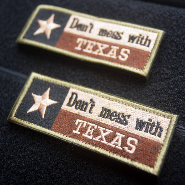 Don't Mess With Texas Don't Mess Dezhou City Flag Full Embroidery Nutro Gas Chapter Chest Article Velcro