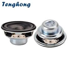 Tenghong 2pcs 45MM Mini Audio Portable Speakers 16 Core 4Ohm 3W Rubber Edge NdFeB Magnet Full Range Speaker Unit Loudspeaker DIY