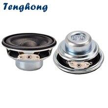 Tenghong altavoces portátiles de 16 núcleos, 4ohm, 3W, borde de goma, imán NdFeB, rango completo, 2 uds., 45MM