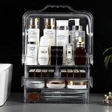 Transparent Acrylic Makeup Storage Box Portable Drawer Skin Care Produc