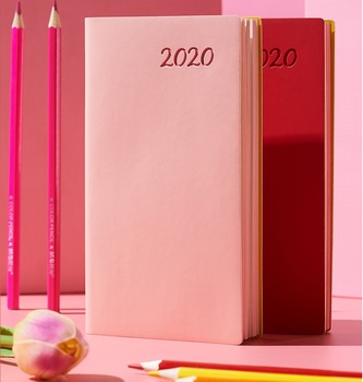 the success makers 2017 daily planner 2020.5-2021.4 A6 mini simple portable daily planner notebook 365 days monthly daily yealy agenda Pu cover planner