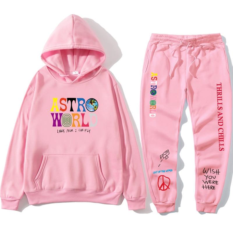 TRAVIS SCOTT ASTROWORLD hope you are here HOODIES fashion letters ASTROWORLD HOODIE streetwear + pants men's pullover sweatshirt