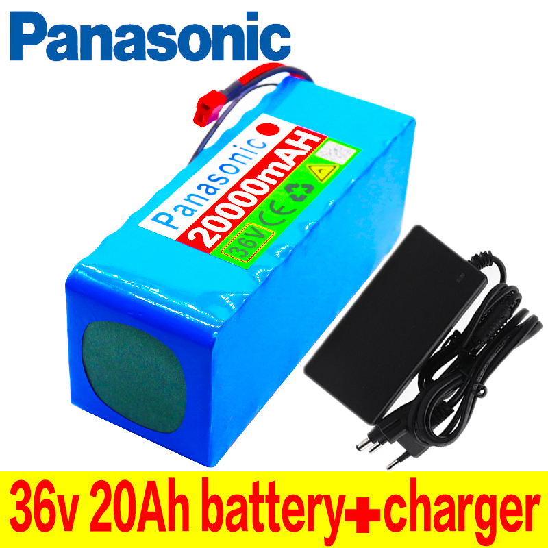Panasonic New 36V battery 10S4P 20Ah 36v 18650 battery pack 500W 42V 20000mAh for Ebike electric bicycle with BMS + charger
