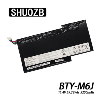 New BTY-M6J Laptop Battery For MSI GS63VR GS73VR 6RF-001US BP-16K1-31 9N793J200 Tablet PC MS-17B1 MS-16H2 MS-16K2 SHUOZB 5200mAh bottom case for msi gs60 ms 16h2 ms 16h21 ms 16h2c ws60 px60 gs70 gs73 ms 1772d ms 17711 black plastic red 772d612y77 metal