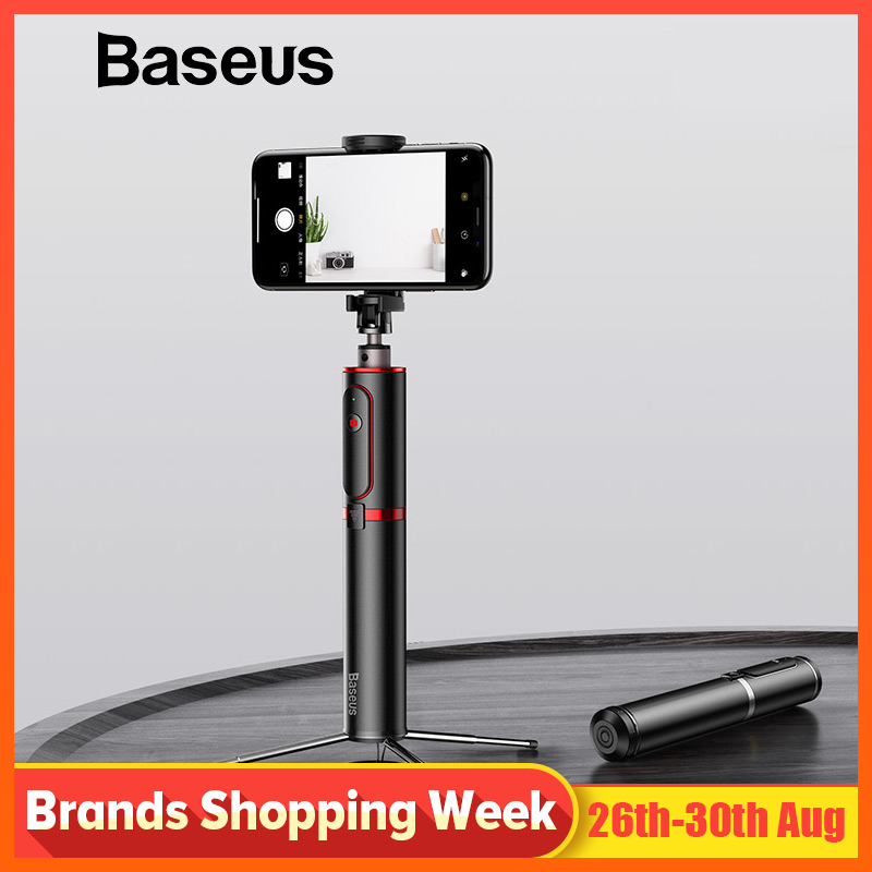 Baseus Bluetooth Selfie Stick Portable Handheld Smart Phone Camera Tripod with Wireless Remote For iPhone Samsung Huawei Android