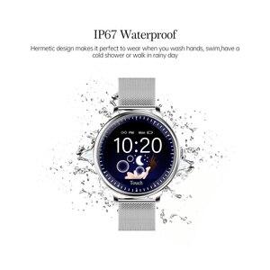 Image 5 - RUNDOING NY12 Stijlvol smartwatch voor vrouwen Smartwatch met ronde schermen voor Girl Compatibel met hartslagmeters voor Android en IOS