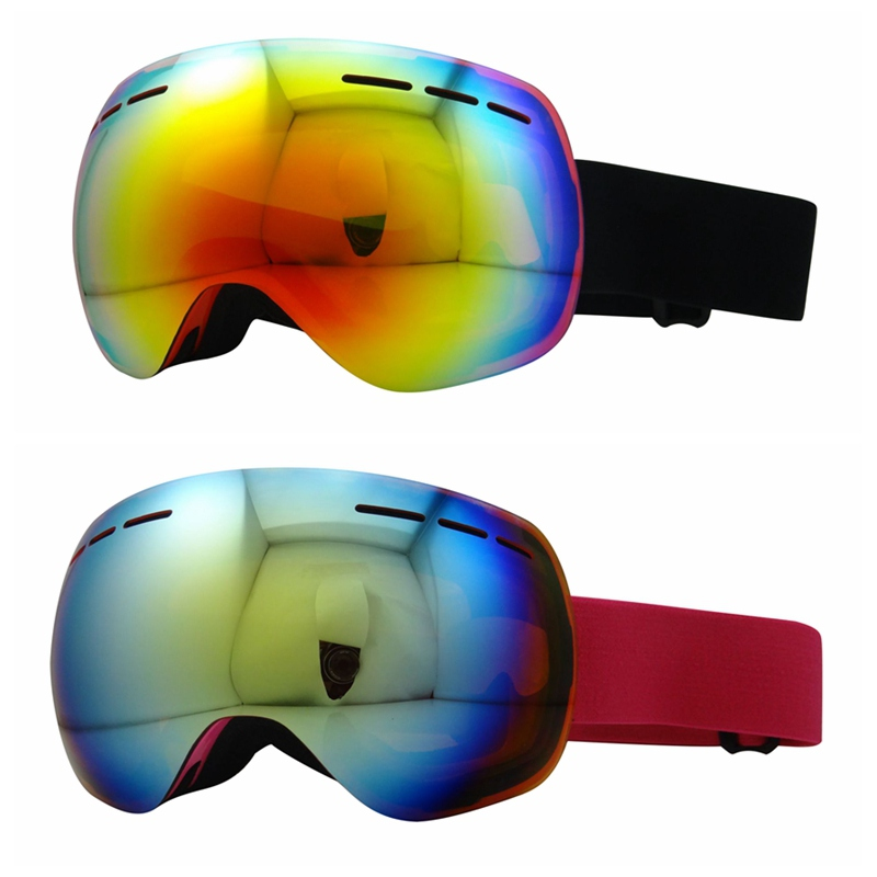 Unisex Outdoor Winter Skiing Goggles Double Layers Anti-Fog Mask Glasses Skiing Spherical Snow Snowboard Eyewear Accessory