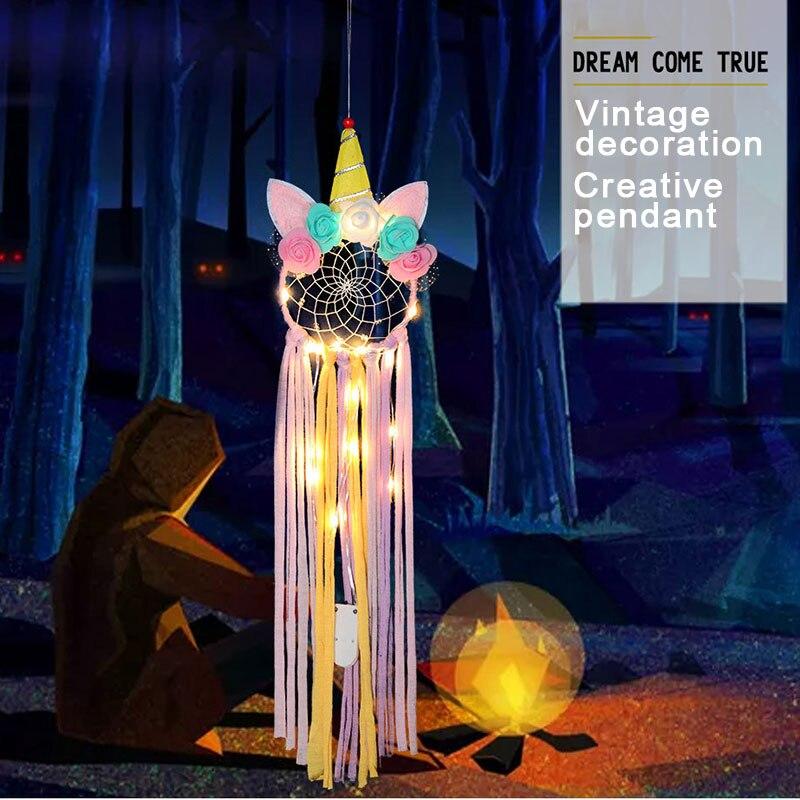Unicorn Dream Catcher For Girls Room Nursery Decor Wall Hanging Decoration Kids Birthday Wedding Gift F
