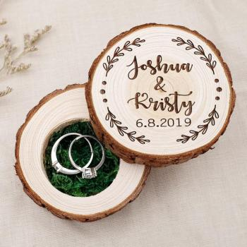 Personalized Wooden Ring Box Engagement Ring Box Rustic Ring Bearer Box Wedding Ring Box Jewelry Box Proposal Ring Holder 6 road 10a diameter 22mm collector ring slide ring lighting brush box