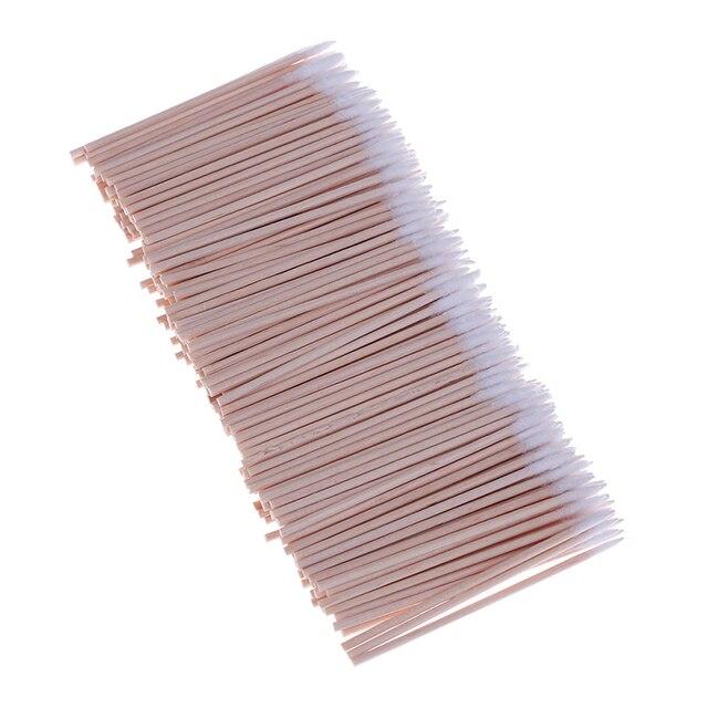 300pcs Cotton Buds Swabs Handle Wooden Handle Tattoo Makeup Microblade Cotton Swab Sticks Makeup Cotton Swabs 4