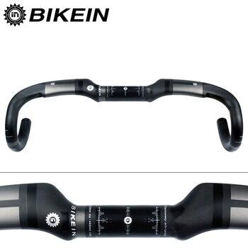 BIKEIN ultralight 230g Road Bicycle Handlebar UD Carbon Drop Bar 400/420/440mm Road Bike Bent Bar 31.8mm Matte Black bike parts