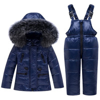 Baby Down Coat 4 Colors Winter Baby Clothing Jacket Fur Infant Winter Coat Warm Snow Wear for Kids