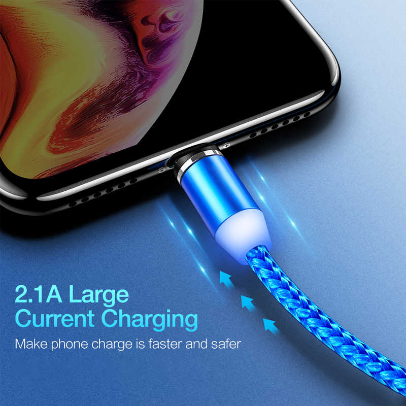 Magnetic Micro USB Cable Fast Charging mobile phone cables Charger Cable Type C Cable Magnet for iPhone to USB Charging wire
