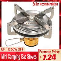 Lixada mini fogões a gás de acampamento 3500 w caminhadas ultraleve portátil ao ar livre caminhadas mochila piquenique cozinhar fogão para acampamento churrasco