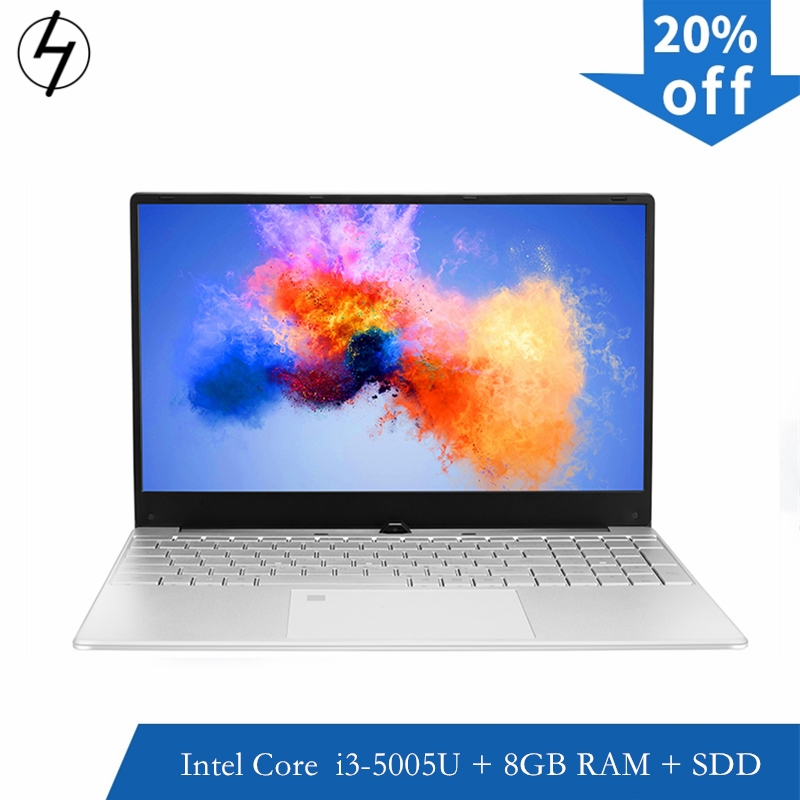 15.6 inch Notebook i3 Fingerprint unlock Intel Core I3 5005U 8GB RAM laptop 256GB 512GB 1TB SSD Gaming notebook with WiFI Webcam