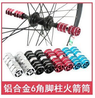 Bike Foot Column/High Quality Aluminium Alloy Rocket Tube Foot Rest Lever Station Socle Mountain Bike Rocket Tube Riding Equipme