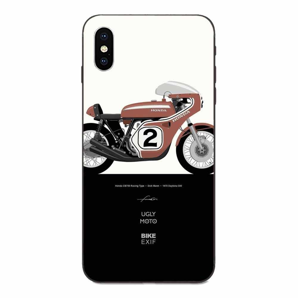 Tpu Capa Capa Para Apple iPhone 4 4S 5 5S SE 6 6S 7 8 Plus X XS max XR Motos Corrida de Motos Motor