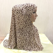 Printed long muslim hijab flower pattern