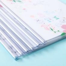 12 шт. А4 Папка для документов Обложка для отчета папки для хранения прозрачные для школы офисные принадлежности канцелярские принадлежности