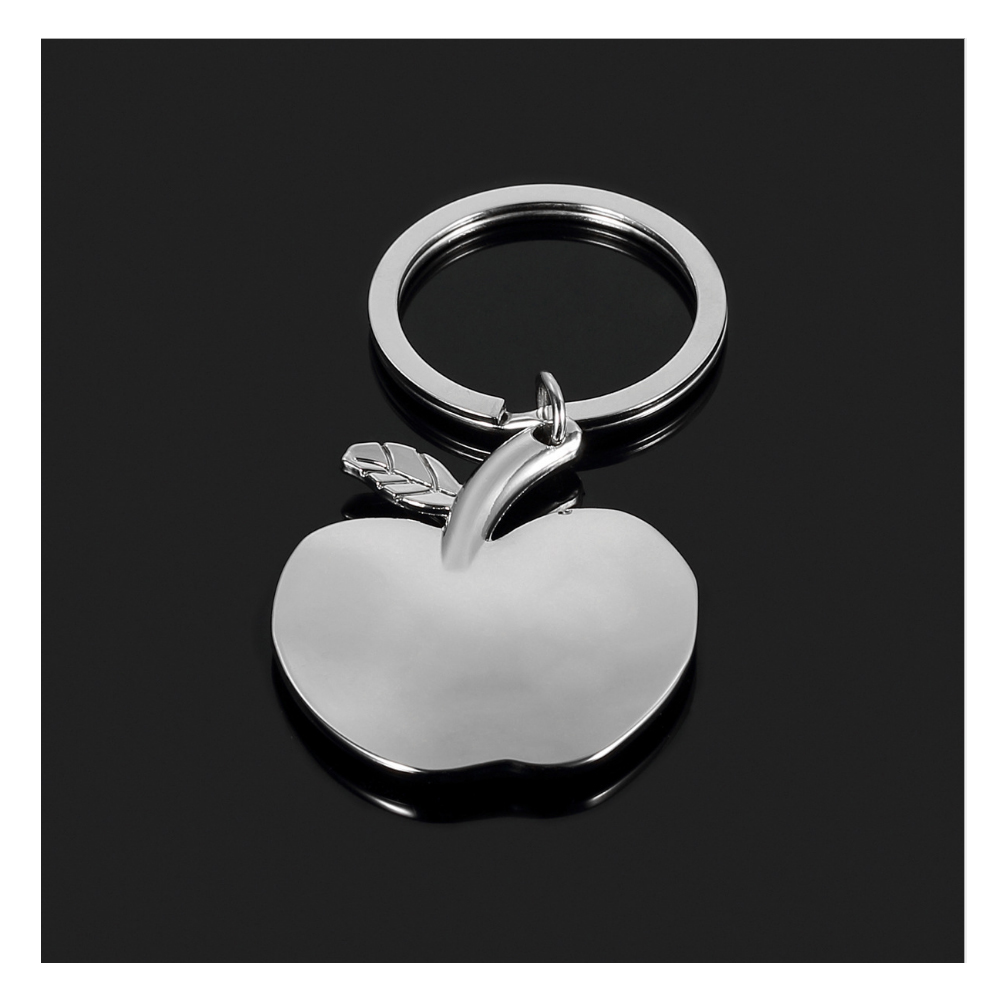 Cute Apple keychain bag keyring stainless steel car keys personalized free with your name best birthday