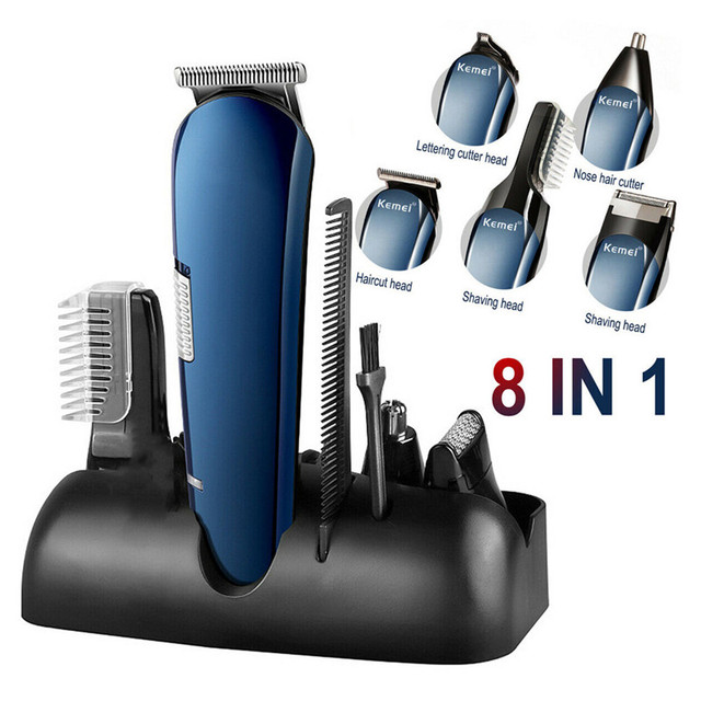 $ US $21.23 8 in 1 Rechargeable Cordless Electric Hair Clipper Men Body Beard Trimmer Shaver