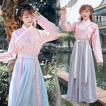 China antiguo Hada princesa disfraz tradicional Hanfu Folk Vintage Orient Tang Dynasty Cosplay disfraz Stduent escenario Show vestido