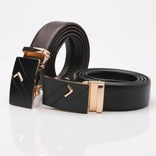 Men Leather Belt Alloy Automatic Buckle All-match Casual Style Belt High Quality Leather Belt цена и фото