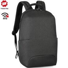 Tigernu novo design de moda anti roubo rfid 15.6 polegada portátil dos homens mochila grande capacidade peso leve viagem mochila escolar sacos