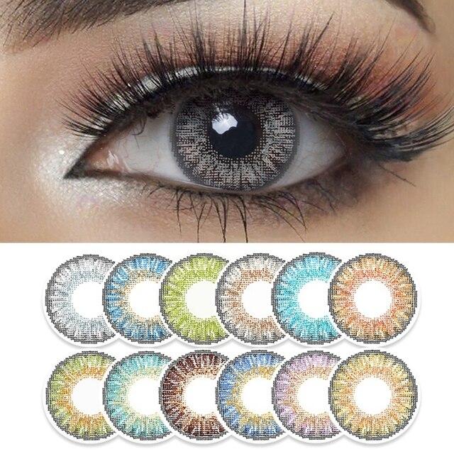 2pcs/pair 3 Tone Series Colored Contact Lenses