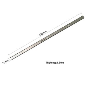 """Image 2 - TASP 2pcs 13"""" Thickness Planer Blades Double Edged Knives 333x12x1.5mm for Delta 22 580 22 590 TP300 Metabo DH330 WEN 6552 043"""